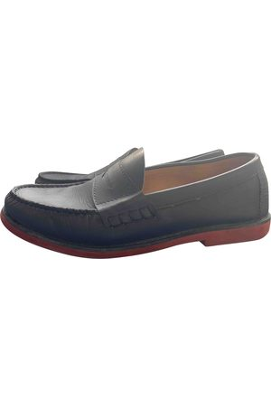 Carven Navy Leather Flats