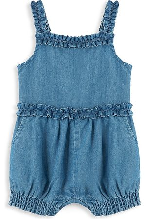 Habitual Girl Baby Girl's Bubble Pleat Romper - Med Stone - Size 12 Months