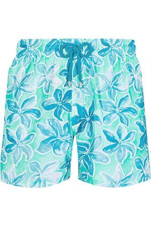 Vilebrequin Men's Raiatea Painterly Floral Swim Trunks - - Size Medium
