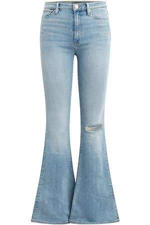 Hudson Women High Waisted - Women's Holly High-Rise Flare Jeans - Shine A Light - Size 26
