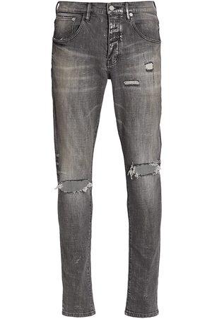 Purple Brand Men's Ripped Skinny Jeans - Grey Vintage Repair - Size 38