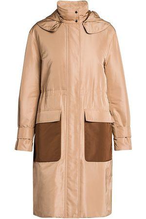 Loro Piana Women Outdoor Jackets - Women's Derog Wind Silk-Blend Hooded Anorak - - Size 4