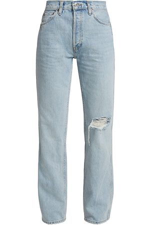 RE/DONE Women's 90s High-Rise Loose Jeans - Light Worn - Size 10