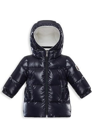 Moncler Baby's & Little Kid's Cansu Long Down Puffer Parka - Navy - Size 12 Months
