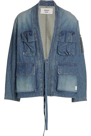 Ambush Men's Kimono Denim Jacket - Mid - Size Small
