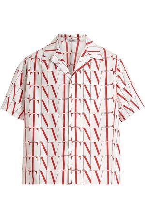 VALENTINO Men's VLTN Times Camp Shirt - Bianco - Size 36