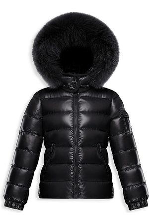 Moncler Little Girl's & Girl's Bady Fox Fur-Trim Down Coat - - Size 8