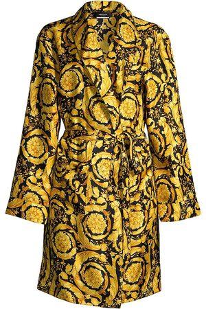 Versace Women's Printed Silk Robe - - Size Small