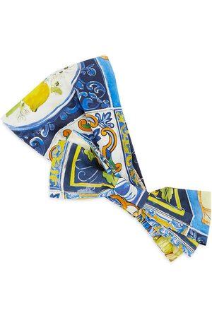 Dolce & Gabbana ONLY AT SAKS. Girl's Lemon Mosaic Print Bow Headband - Size 10