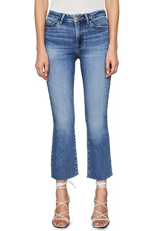 Frame Women's Le Crop Mini Bootcut Jeans - Tidepool Grind - Size 32