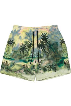 Palm Angels Men Swim Shorts - Men's x Vilebrequin Jungle Print Swim Trunks - - Size Large