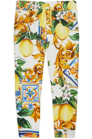 Dolce & Gabbana ONLY AT SAKS. Little Girl's & Girl's Limoni Joggers - Limoni - Size 8