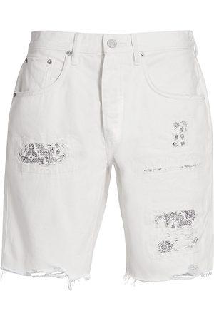 Purple Brand Men's Bandana Patch Denim Shorts - Bandana Patch Work - Size 34