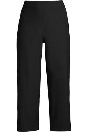Eileen Fisher Women's Straight Cropped Jersey Pants - - Size XL