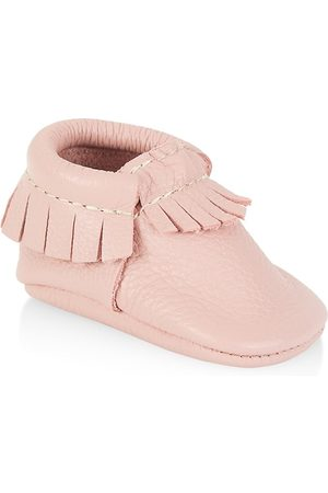 Freshly Picked Girls Loafers - Baby & Little Girl's Slip-On Moccasin Boot - Blush - Size 3 (Baby)