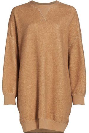 R13 Women's Crewneck Sweatshirt Dress - Camel - Size XS