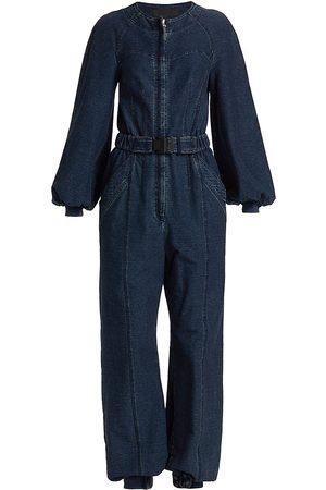 Alberta Ferretti Women's Denim Jumpsuit - - Size 10