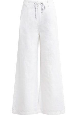Hudson Women's Drawstring Wide Leg Trousers - Star - Size 27
