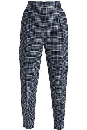 Altuzarra Formal Pants - Sidney Plaid Wool-Blend Trousers - Twilight Plaid - Size 4