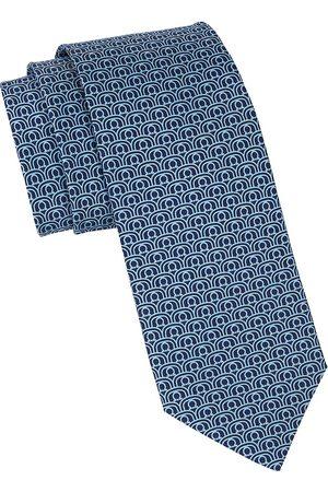 Salvatore Ferragamo Men Neckties - Men's Gancini Printed Silk Tie