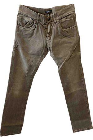 Dolce & Gabbana Khaki Cotton - elasthane Jeans