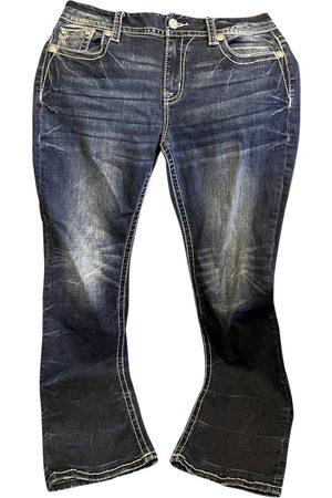 Miss Me Navy Cotton Jeans