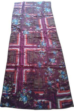 Kenzo Burgundy Wool Scarves