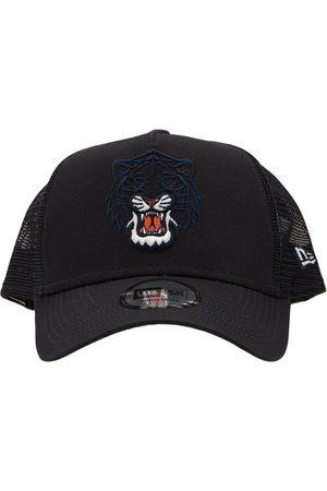 New Era Men Hats - Detroit Tigers Logo Patch Trucker Hat