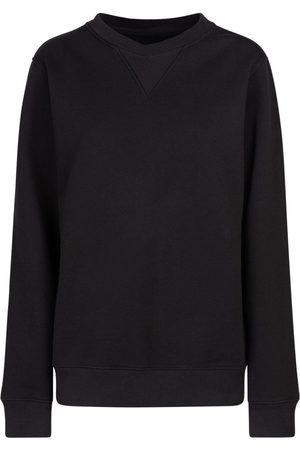 Maison Margiela Women Sweatshirts - Cotton Jersey Crewneck Sweatshirt