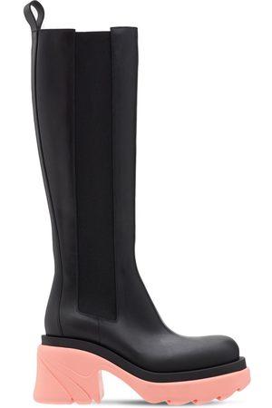 Bottega Veneta 95mm Flash Leather Tall Boots