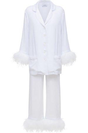 Sleeper Party Pajama Set W/ Double Feathers