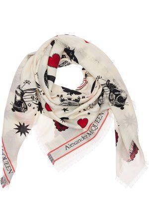 Alexander McQueen Women Scarves - Mystic Selvedge Wool & Silk Shawl