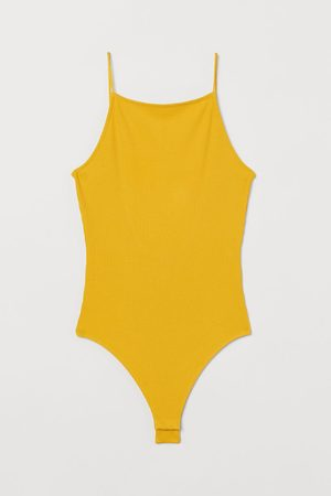 H&M Women Lingerie Bodies - Ribbed Thong Bodysuit