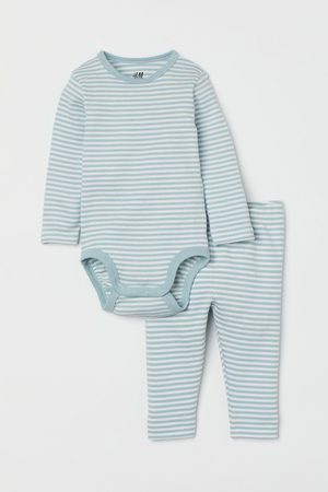 H&M Ribbed Cotton Set