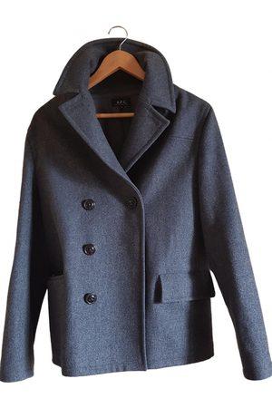 A.P.C. Grey Wool Coats
