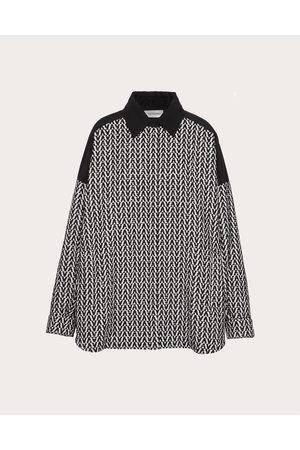 VALENTINO Optical Bouclé Pea Coat Women / Polyester 46%, Cotton 54% 38