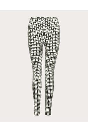 VALENTINO Optical Jersey Leggings Women / Elastane 29% L
