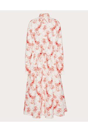 VALENTINO Women Casual Dresses - Printed Faille Shirt Dress Women Ivory/ Silk 20%, Cotton 80% 38