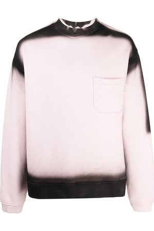 Marni Men Sweatshirts - Bleached-logo crew-neck sweatshirt