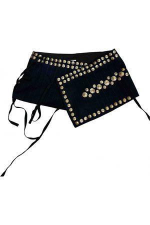 DRIES VAN NOTEN Navy Cloth Belts