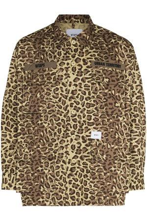 Wtaps Men Shirts - Leopard-print shirt - Neutrals