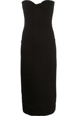 AZ FACTORY Women Bodycon Dresses - SuperTech-SuperChic bow fitted midi dress