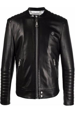 Philipp Plein Iconic Plein leather jacket