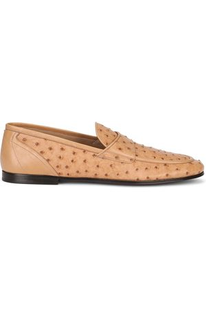 Dolce & Gabbana Men Loafers - Textured leather loafers - Neutrals