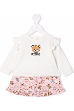 Moschino Kids Baby Sets - Teddy bear logo skirt set