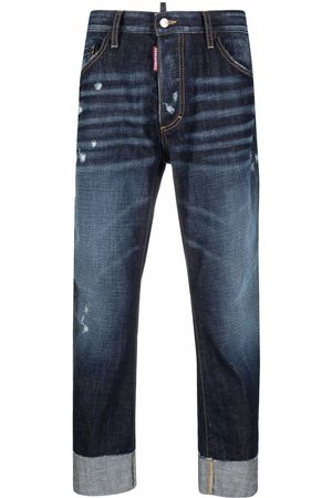 Dsquared2 Men Straight - Cropped straight-leg jeans