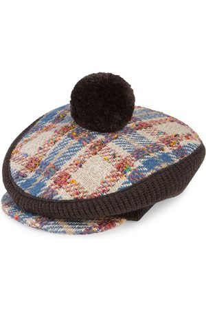 Gucci Check-pattern knitted hat