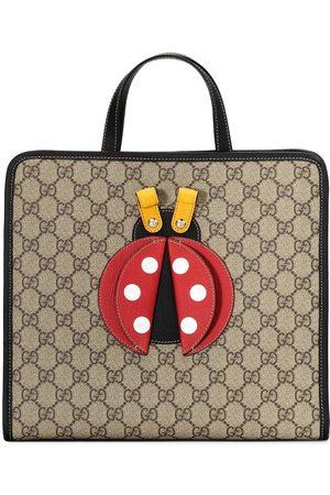 Gucci 3D-detail GG-canvas bag - Neutrals