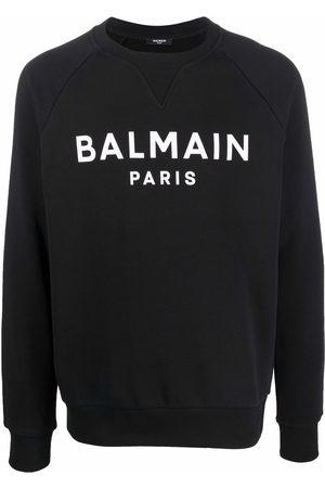 Balmain Men Sweatshirts - Logo-print crew-neck sweatshirt