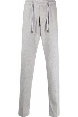 ELEVENTY Drawstring-waist straight trousers - Grey